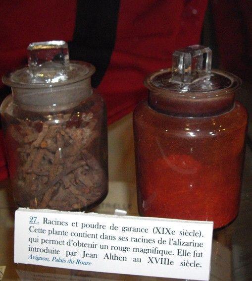 Garance racine et poudre colorant rouge