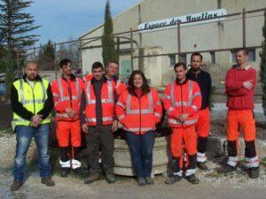 équipe service espaces verts