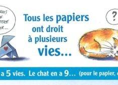 Le papier a 5 vies