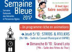 affiche semaine bleue le thor 2017